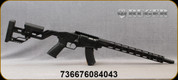 "Ruger - 22 WMR - Precision Rimfire - Black AR-Pattern Grip/Threaded Cold Hammer-Forged 1137 Alloy Steel, 18"" Barrel - Mfg# 08404"