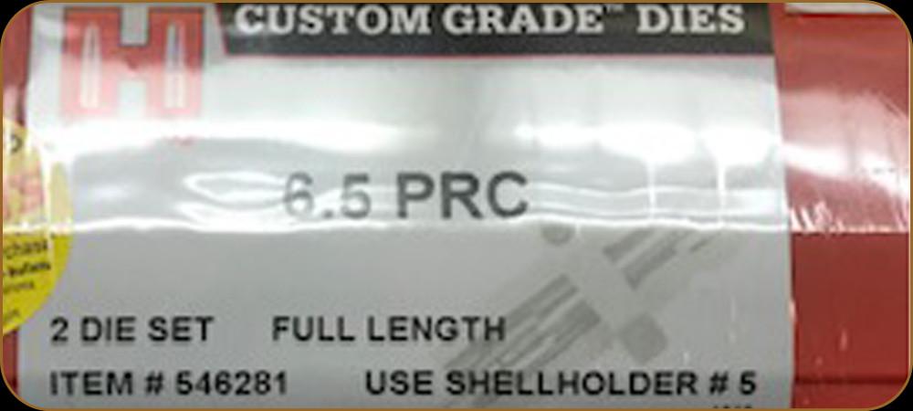 2 DIE SET 546281 HORNADY 6.5 PRC CUSTOM GRADE FULL LENGTH