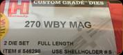 Hornady - Full Length Dies - 270 Wby Mag - 546298