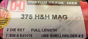Hornady - Full Length Dies - 375 H&H Mag - 546416