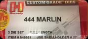 Hornady - Full Length Dies - 444 Marlin - 3-Die Set - 546551
