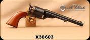 "Consign - Uberti - 38Spl - Model 1871 Open Top Early Model Navy - Walnut/Blued, 7.5"", In original box"