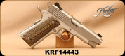 """Consign - Kimber - 9mm - Model 1911 Stainless Pro Carry II - Semi-Auto - Black/Sand G10 Grips, Satin Stainless Finish,4.2""""Barrel, Match Grade Aluminum Trigger, c/w 3 magazines, spare grips - in soft case"""