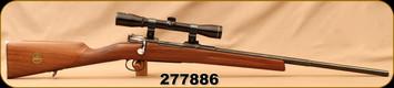 "Consign - Carl Gustaf - 6.5x55SE - M96 - Swedish Mauser - Checkered Wood Stock w/inlaid 1976 Silver Dollar/Blued, 23""Stepped Barrel, Nickel Butt Plate, c/w Imperial 4x32 Scope, Duplex Reticle"