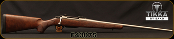 """Used - Tikka - 7mmRemMag - T3 Hunter Stainless - Walnut/Stainless, 24.3""""cold hammer-forged barrel - in original box"""