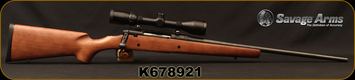 """Used - Savage - 270Win - Axis - Walnut Stock/Blued, 21.5""""Barrel, c/w Bushnell Banner, 3-9x40mm, MZ 200 Reticle"""