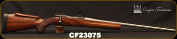 """Used - Cooper - 6.5Creedmoor - M54 Jackson Game - Bolt Action Rifle - AAA Claro Walnut stock w/roll over cheek piece/Stainless, 24""""Fluted Barrel, Spiral Bolt"""