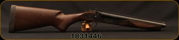 "Used - Norinco - 12Ga/2.75""/12"" - JW2000 Coach Gun - Double Trigger SxS - Walnut Stock/Blued Barrels, External Hammers, Brass Bead Front Sight"