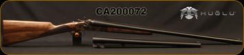 "Huglu - 12Ga/3""/30"" & 20"" - 201HRZ - 2 Barrel Set - Double Trigger SxS - Turkish Walnut English Grip/Case Hardened/Chrome-Lined Barrels, SKU: 86817443089392BE, S/N CA200072"