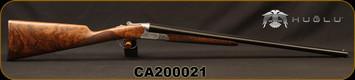 "Huglu - 20Ga/3""/26"" - CLX T1 - SxS w/Extractors - English Grip, Grade 4 Turkish Walnut/Hand Engraved Silver Receiver/Chrome-Lined Barrels, 5pc.Mobile Choke, Leather case, Sku: 8682109404006, S/N CA200021"