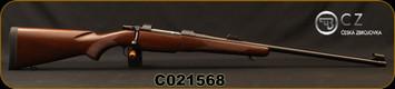 "CZ - 375H&Hmag - Model 550 Magnum Standard - Select Turkish Walnut/Blued, 25""Barrel, 3-leaf express sights, 5rd Hinged Floorplate, Single Set Trigger, 1:12""Twist, Mfg# 5504-5510-AAEAABX, S/N C021568"
