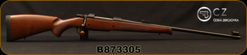 "CZ - 375H&Hmag - Model 550 MG Safari Lux - Select Turkish Walnut/Blued, 25""Barrel, 3-leaf express sights, 5rd Hinged Floorplate, Single Set Trigger, 1:12""Twist, Mfg# 5504-5522-BEEAABX, S/N B873305"