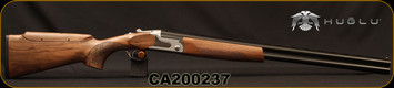 "Huglu - 12Ga/3""/28"" - S12E - Full Size Over/Under - Grade II Turkish Walnut Monte Carlo Stock w/Adjustable Comb/Silver Receiver/Chrome-Lined Barrels, Ejectors, SKU# 8681715390840-2, S/N CA200237"