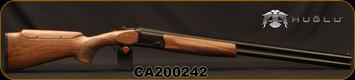 "Huglu - 12Ga/3""/28"" - S12E - Full Size Over/Under - Grade II Turkish Walnut Monte Carlo Stock w/Adjustable Comb/Black Receiver/Chrome-Lined Barrels, Ejectors, SKU# 8681715390857-2, S/N CA200242"
