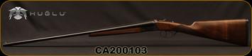 "Huglu - 410Ga/3""/26"" - 202B - SxS - Double Trigger - Grade II Turkish Walnut/Case Hardened Receiver/Trigger Guard/Blued Barrel, SKU# 8681715394770-2, S/N CA200103"