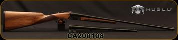 "Huglu - 410Ga/3""/16"" & 26"" - 202B - 2 Barrel Set - SxS - Double Trigger - Grade II Turkish Walnut/Case Hardened Receiver/Trigger Guard/Blued Barrel, SKU# 86817153947702BE, S/N CA200108"