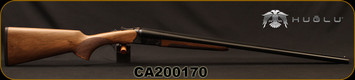 "Huglu - 16Ga/2.75""/28"" - 200A - SxS w/Extractors - Pistol Grip Grade 2 Turkish Walnut/Case Color Hand Engraved Receiver/Chrome-Lined Barrels, IC/IM, SKU: 8682109403733P, S/N CA200170"