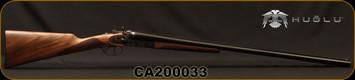 "Huglu - 12Ga/3""/30"" - 201HRZ - SxS Double Trigger - Grade II Turkish Walnut English Stock/Case Hardened/Chrome-Lined Barrels, 5pc. Ventus Mobile Chokes, SKU# 8681744308939-2, S/N CA200033"
