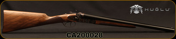 "Huglu - 12Ga/3""/20"" - 201HRZ - Hammer Gun - Grade II English Grip Turkish Walnut/Case Hardened Receiver/Chrome-Lined Barrels, Double Trigger, SKU# 8681744308946-2, S/N CA200028"