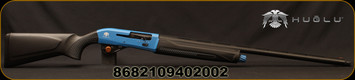 "Huglu - 12Ga/3""/28"" - Veyron Blue - Gas Operated Semi-Auto - Black Synthetic Stock/Blue Cerakote Receiver/Matte Black Anodized Finish, Red Fiber Optic Front Sight, 5pc 7cm Mobile Chokes + 1 Mod. Extended Choke"