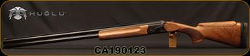"Huglu - 12Ga/2.75""/32"" - Model HT-14 - Grade 2 Select Turkish Walnut Adjustable Stock/Black Receiver/Blued Barrels, Ejectors, Vent Rib, Adjustable Trigger, SKU# 8681715396583B, S/N CA190123"
