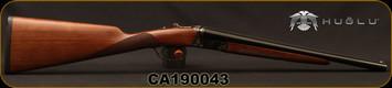 "Huglu - 28Ga/2.75""/16"" - Model 202B Mini - SXS - Turkish Walnut English Stock/Case Hardened/Chrome-Lined Barrels, Double Trigger, 5pc. Mobile Choke, SKU# 8682109400220, S/N CA190043"