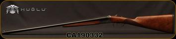 "Huglu - 28Ga/2.75""/26"" - Model 202B Mini - SXS - Grade II Turkish Walnut English Stock/Case Hardened/Chrome-Lined Barrels, Double Trigger, 5pc. Mobile Choke, SKU# 8681715394800-2, S/N CA190332"