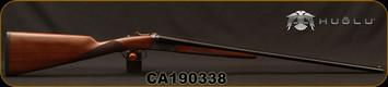 """Huglu - 410Ga/3""""/26"""" - 202B Mini - SxS - Double Trigger - Turkish Walnut/Case Hardened Receiver/Trigger Guard/Blued Barrel, SKU# 8681715394770, F/M, S/N CA190338"""