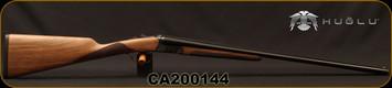 "Huglu - 28Ga/2.75""/26"" - Model 200A Mini - SxS Single Trigger - Grade II Turkish Walnut English Grip Stock/Case Hardened Receiver/Blued, SKU# 8681715398136-2, S/N CA200144"