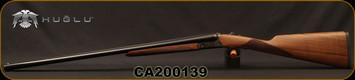 "Huglu - 28Ga/2.75""/26"" - Model 200A Mini - SxS Single Trigger - Grade II Turkish Walnut English Grip Stock/Case Hardened Receiver/Blued, SKU# 8681715398136-2, S/N CA200139"