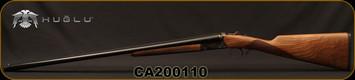 "Huglu - 20Ga/3""/28"" - Model 200A - SxS Single Trigger - Grade II English Grip Turkish Walnut/Hand-Engraved Case Hardened Receiver/Chrome-Lined Barrels, 5pc. Mobile Choke, Sku: 8681715398242-2, S/N CA200110"