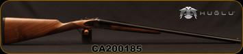 "Huglu - 28Ga/2.75""/26"" - 200AC Mini - SxS Single Trigger - Grade II Turkish Walnut/Case Hardened Receiver w/Hand Engraving/Chrome-Lined  Barrels, 5pc. Mobile Choke, SKU# 8681715398273-2, S/N CA200185"