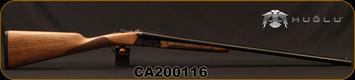 "Huglu - 20Ga/3""/28"" - Model 200A - SxS Single Trigger - Grade I English Grip Turkish Walnut/Hand-Engraved Case Hardened Receiver/Chrome-Lined Barrels, 5pc. Mobile Choke, Sku: 8681715398242, S/N CA200116"