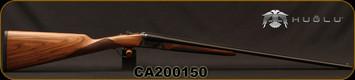 "Huglu - 410/3""/26"" - 200A Mini - SxS Single Trigger - Grade II English Grip Turkish Walnut/Case Hardened Receiver/Chrome-Lined Barrels, F,M Chokes, SKU# 8681715398167-2, S/N CA200150"