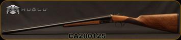 "Huglu - 20Ga/3""/26"" - Model 200A - SxS Single Trigger - Grade II English Grip Turkish Walnut/Hand-Engraved Case Hardened Receiver/Chrome-Lined Barrels, 5pc. Mobile Choke, Sku: 8681715394824-2, S/N CA200125"