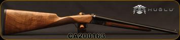 "Huglu - 410/3""/16"" - 200A Mini - SxS Single Trigger - Grade II English Grip Turkish Walnut/Case Hardened Receiver/Chrome-Lined Barrels, Full Choke, Sku: 8682109403955-2, S/N CA200163"