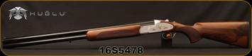 "Huglu - 12Ga/3""/28"" - 103F - O/U, Turkish Walnut/Silver Reciever w/gold inlay birds/Blued Barrel, single trigger, 5pc. Mobile Choke, Sling Swivel Studs, SKU# 8681715390406, S/N 16S5478"