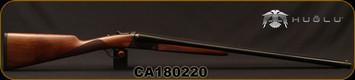 "Huglu - 12Ga/3""/28"" - 202B - SxS Double Trigger - Turkish Walnut English Stock/Case Hardened Receiver/Chrome-Lined Barrels, 5pc. Mobile Chokes, SKU# 8681715391601, S/N CA180220"