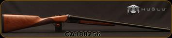"Huglu - 12Ga/3""/26"" - 202B - SxS Double Trigger - Turkish Walnut English Stock/Case Hardened Receiver/Chrome-Lined Barrel, 5pc. Mobile Chokes, SKU# 8681744308922, S/N CA180256"