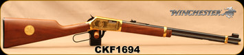 """Consign - Winchester - 22S/L/LR - Model 9422 XTR - Cherokee Carbine - Lever Action - Walnut Stock/Engraved Brass Receiver/Blued, 20""""Barrel, no box"""