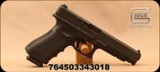 """Glock - 9mm - 34 Gen 3 - Semi Auto Pistol - Black Polymer Frame/Black Finish, 5.31""""Barrel, (2) 10 Round Magazines, Mfg# PI3430101"""