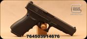 "Glock - 45ACP - 41 Gen 4 - Semi-Auto Pistol - Black Polymer stippled grip w/interchangeable backstraps/Black Finish, 5.31"" Barrel, (3)10 Round magazines, Adjustable Sights, Mfg# UG4130101"