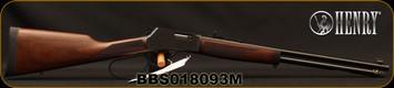 "Henry - 357Mag/38Special - Big Boy Steel - Large loop Lever Action Rifle - Walnut Stock/Blued Finish, 20"" Octagon Barrel, 7 Round Tubular Magazine, Adjustable Sights, Mfg# H012ML, S/N BBS018093M"