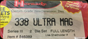 Hornady - Full Length Dies - 338 Ultra Mag - 546389