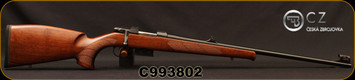 "CZ - 22Hornet - Model 527 Lux - Bolt Action Rifle - Walnut Stock/Blued Finish, 23.625""Barrel, 5 Round Detachable Magazine, Rifle Sights w/Integrated 16mm Scope Base, Mfg# 5274-0201-DATKAB5, S/N C993802"