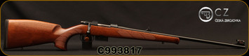 "CZ - 22Hornet - Model 527 Lux - Bolt Action Rifle - Walnut Stock/Blued Finish, 23.625""Barrel, 5 Round Detachable Magazine, Rifle Sights w/Integrated 16mm Scope Base, Mfg# 5274-0201-DATKAB5, S/N C993817"