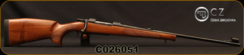 "CZ - 30-06Sprg - Model 550 Lux - Turkish Walnut, European-Style Stock/Blued, 23.7""Barrel, Single Set Trigger, 5rd fixed magazine, 1:10""Twist, Mfg# 5504-3801-DAJABBX, S/N C026051"