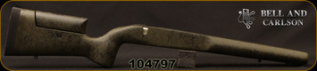 Bell and Carlson - Tikka T3/X - Target/Competition - Adjustable Cheek Piece - Olive Green w/Black Spiderweb