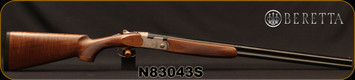 "Beretta - 28Ga/2.75""/26"" - Model 686 Silver Pigeon I - O/U - Oil-Finished Walnut Stock/scroll-engraved receiver/Cold Hammer Forged Barrels, 5pc. Mobilchoke, Mfg# 3W47P3L1AA311, S/N N83043S"