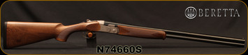 "Beretta - 20Ga/3""/26"" - Model 686 Silver Pigeon I - O/U - Oil-Finished Walnut Stock/scroll-engraved receiver/Cold Hammer Forged Barrels, 5pc. Mobilchoke, Mfg# 3W48P1L1AA311, S/N N74660S"